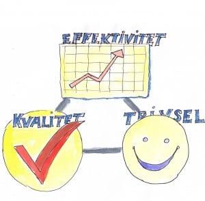 Gylden trekant, effektivitet, målstyring, mål