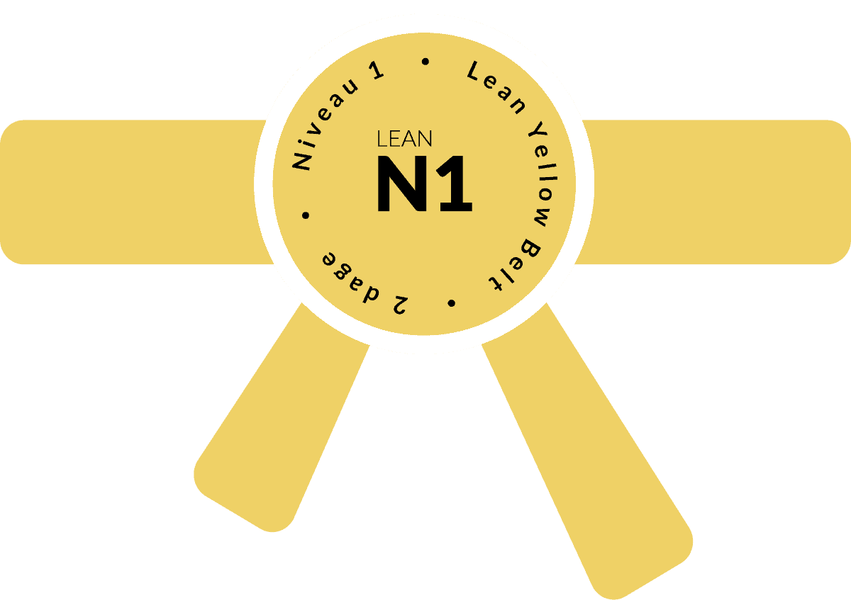 Niveau 1, Lean Yellow Belt, 2 dage