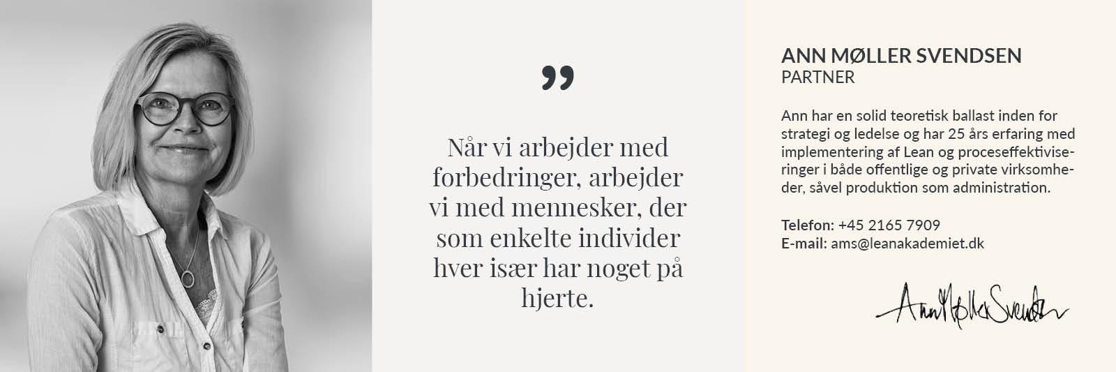 Profil præsentation Lean Akademiet - Ann Møller Svendsen